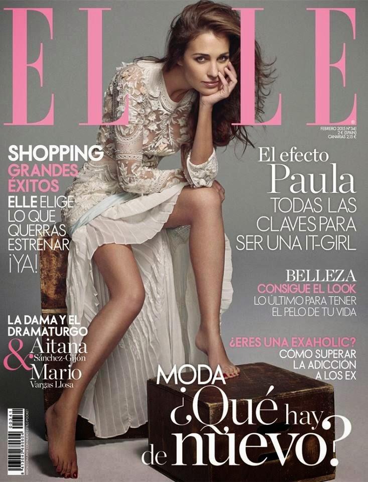 Paula Echevarría - Elle, Spain, February 2015