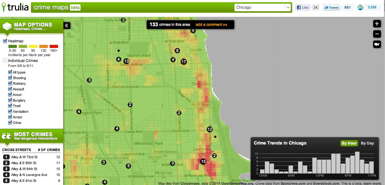 Trulia announces crime map Edgeville Buzz