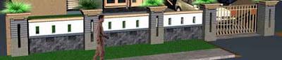Contoh Desain Pagar Rumah Mewah Minimalis 01