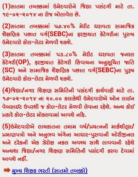 HTAT BHARATI 7TH ROUND DECLARED