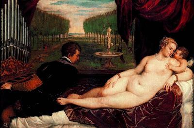 Venus recreant-se amb l'amor i la música (Tiziano Vecellio di Gregorio)