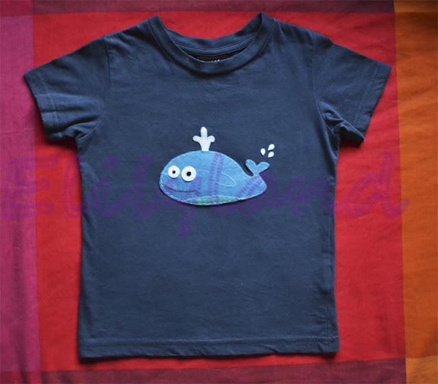 Camiseta Fieltro Ballena Niño Niña