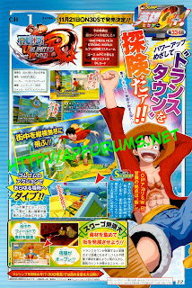 one piece unlimited world red scan Japan   One Piece: Unlimited World Red (3DS)   Release Date & Shonen Jump Magazine Scan