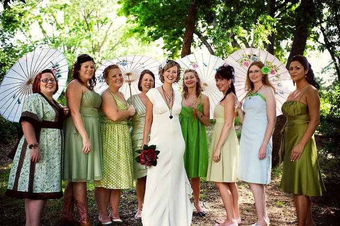 Green Wedding Party Sean My Besties