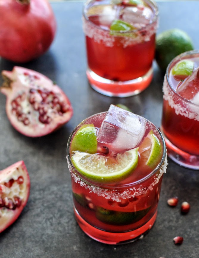 Pomegranate Margarita featuring Grand Marnier