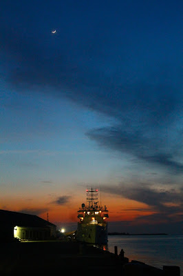 NOAA ship Nancy Foster at dusk