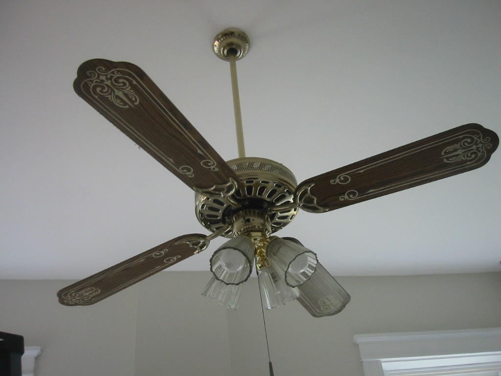 Paint Ceiling Fan : Sheshe the home magician miracle of paint oak