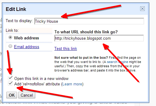 how to add twitter link to blogger