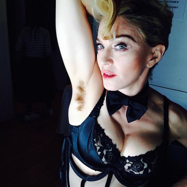 imagenes de madonna sin ropa interior - imagenes de ropa | Madonna enseña orgullosa sus axilas sin depilar Pelo