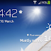 Transparent AccuWeather widget for Galaxy S4 mini