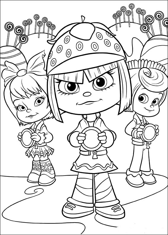 "Dibujos para colorear de ""¡Rompe Ralph!"""