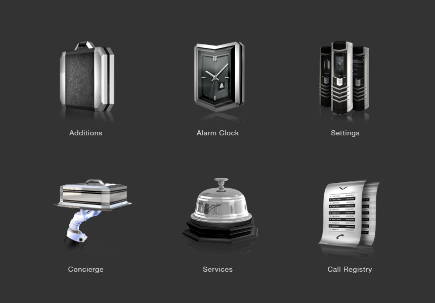 Some of the icons designed from the chosen style