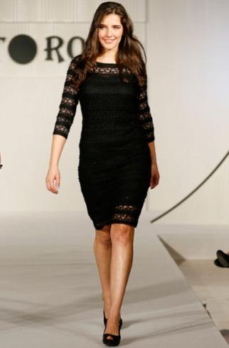 Vestido negro de punto roma
