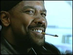 denzel washington smoking