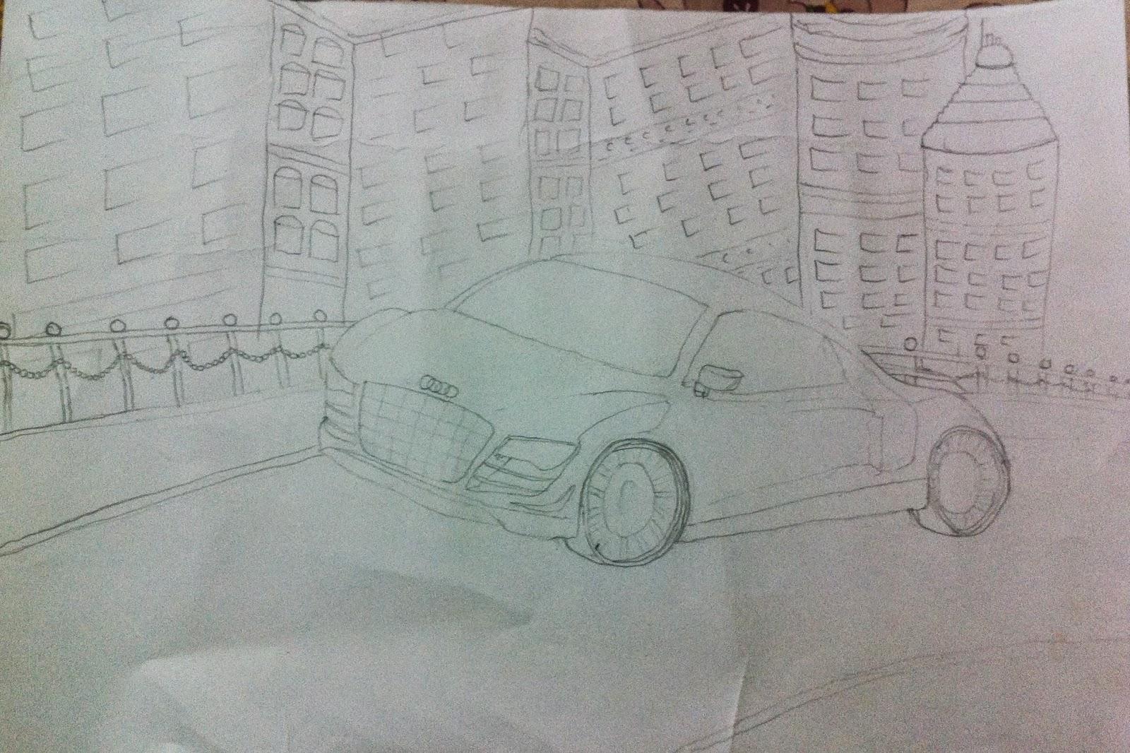 Best 3D Pencil Shading Car [audi-Car] Sketching Drawing Tricks