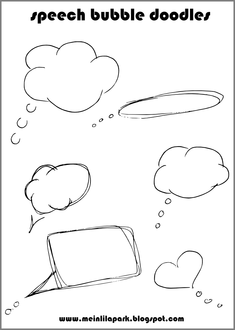 This is an image of Luscious Speech Bubble Printable