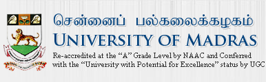 University of Madras MA admissions 2014-15 Online Applications at www.unom.ac.in