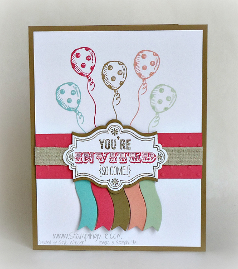 Party invitation by Stampingville   Sketched Birthday Stamp Set by Stampin' Up!