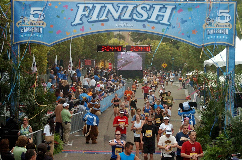 Disney Half Marathon Finish