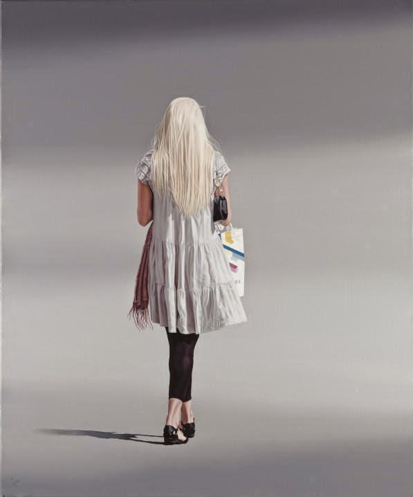 07-The-Gift-Nigel-Cox-Photo-realistic-Minimalism-in-Surreal-Paintings-www-designstack-co