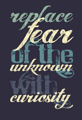 replace fear of the unknown with the curiosity
