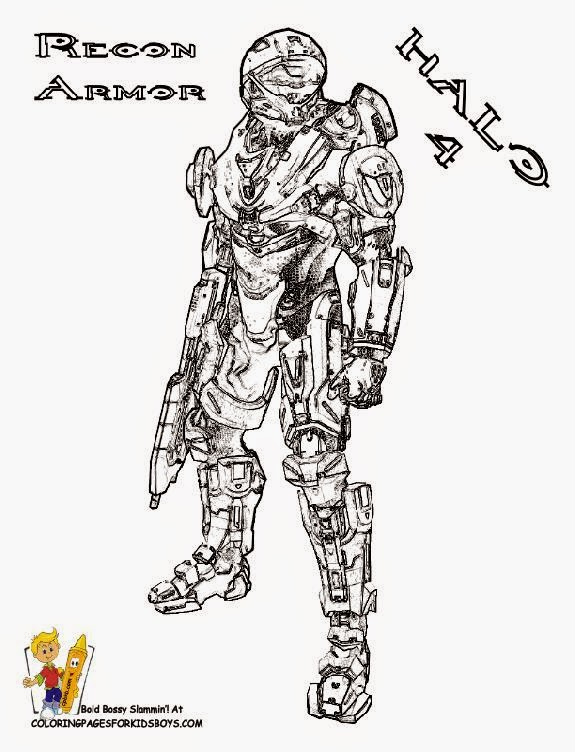 Halo 4 Coloring Pictures Fans Google