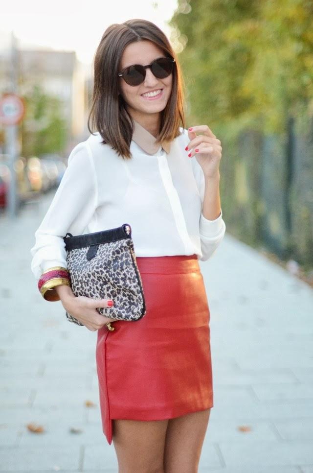 falda piel roja 809dac0932ec