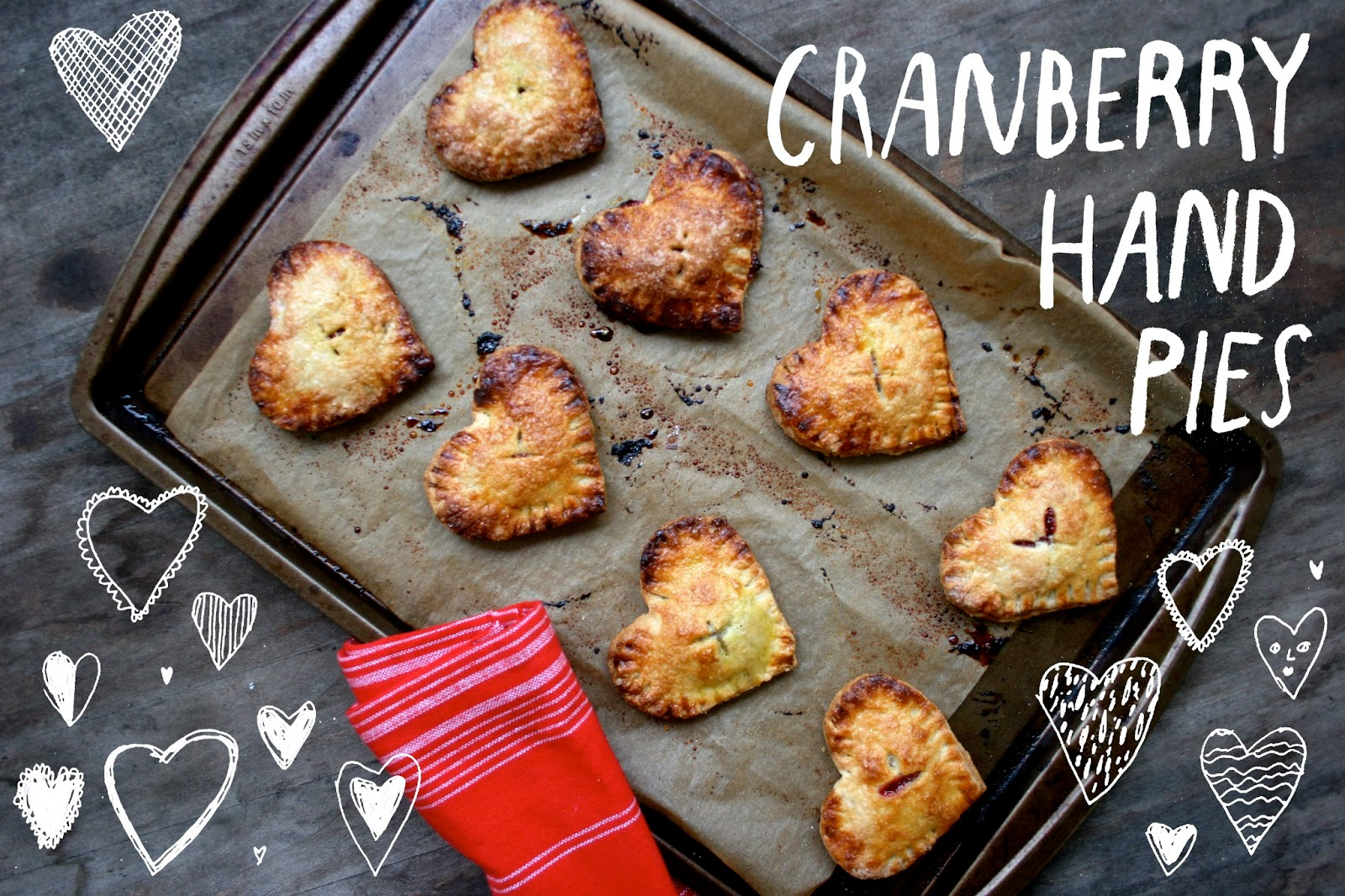 Heart-Shaped Cranberry Hand Pies with Elizabeth Graeber illustration