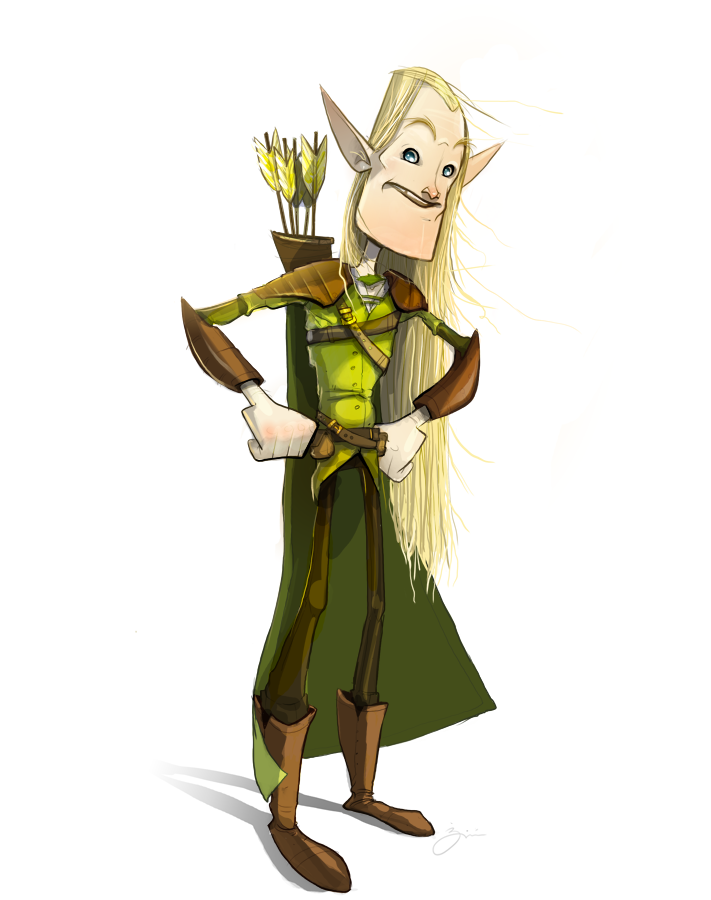 Legolas Cartoon by deviant-rohain on DeviantArt