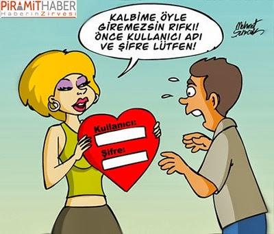 Kalp Şifresi Karikatürü