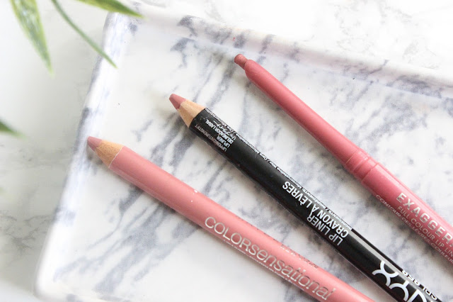 3 Great Drugstore Pink Lipliners  - Maybelline Sweet Pink, NYX Nude Pink, Rimmel Eastend Snob