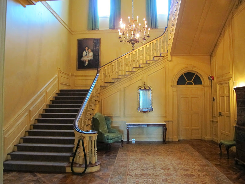 Much like the Rotunda on the east, the stair hall on the west mediates  title=