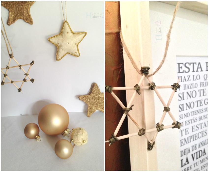 Estrella madera handmade by Habitan2