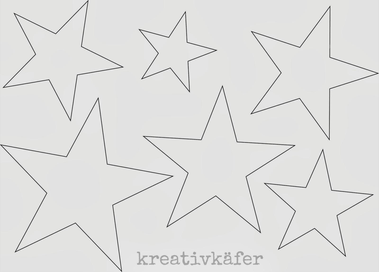 Kreativk fer im sternenfieber for Sterne basteln vorlagen