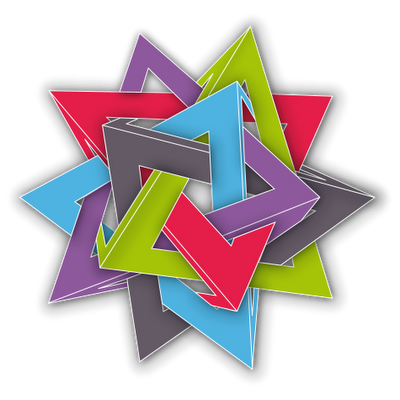 Five Intersecting Tetrahedra. Diseñado por @LaDeLasVioletas