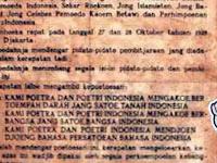 Teks Naskah Sumpah Pemuda Tanggal 28 Oktober 1928