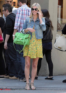 Nicky Hilton Pictures in Yellow Floral Short Dress in Soho  0003
