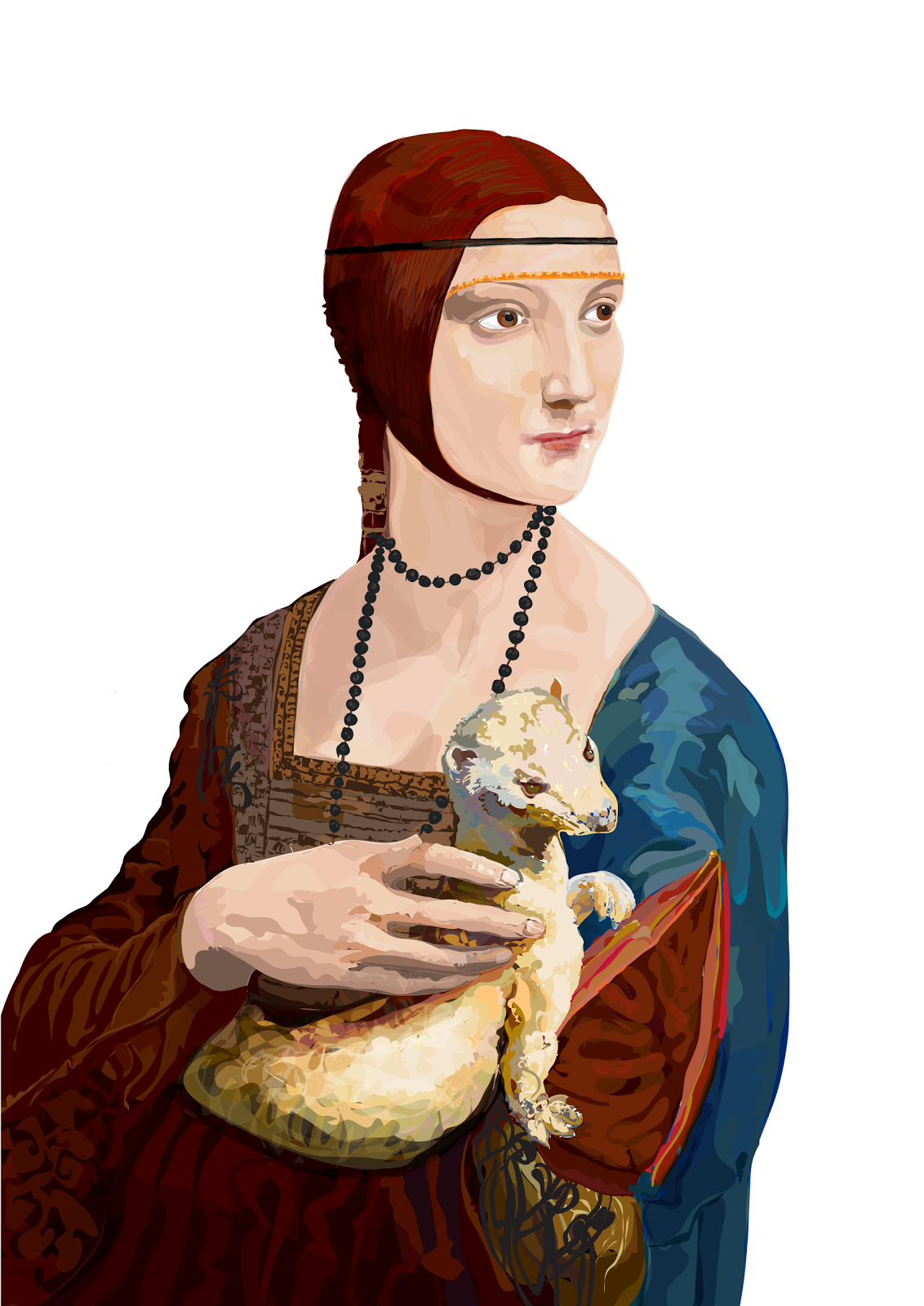 Da vinci lady with an ermine 90x120cm lady with an ermine based on da