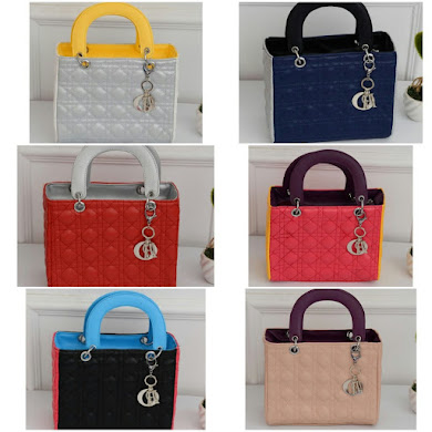 DIOR DESIGNER BAG - MIX BLACK , MIX BLUE , MIX CREAM , MIX PEACH , MIX PINK , MIX RED , MIX YELLOW