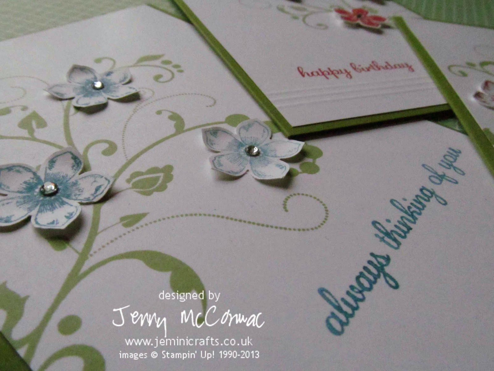 Petite Petals Private Class Stampin Up Jemini Crafts March 2014