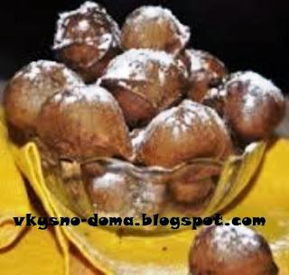 Шоколадные шарики жареные во фритюре