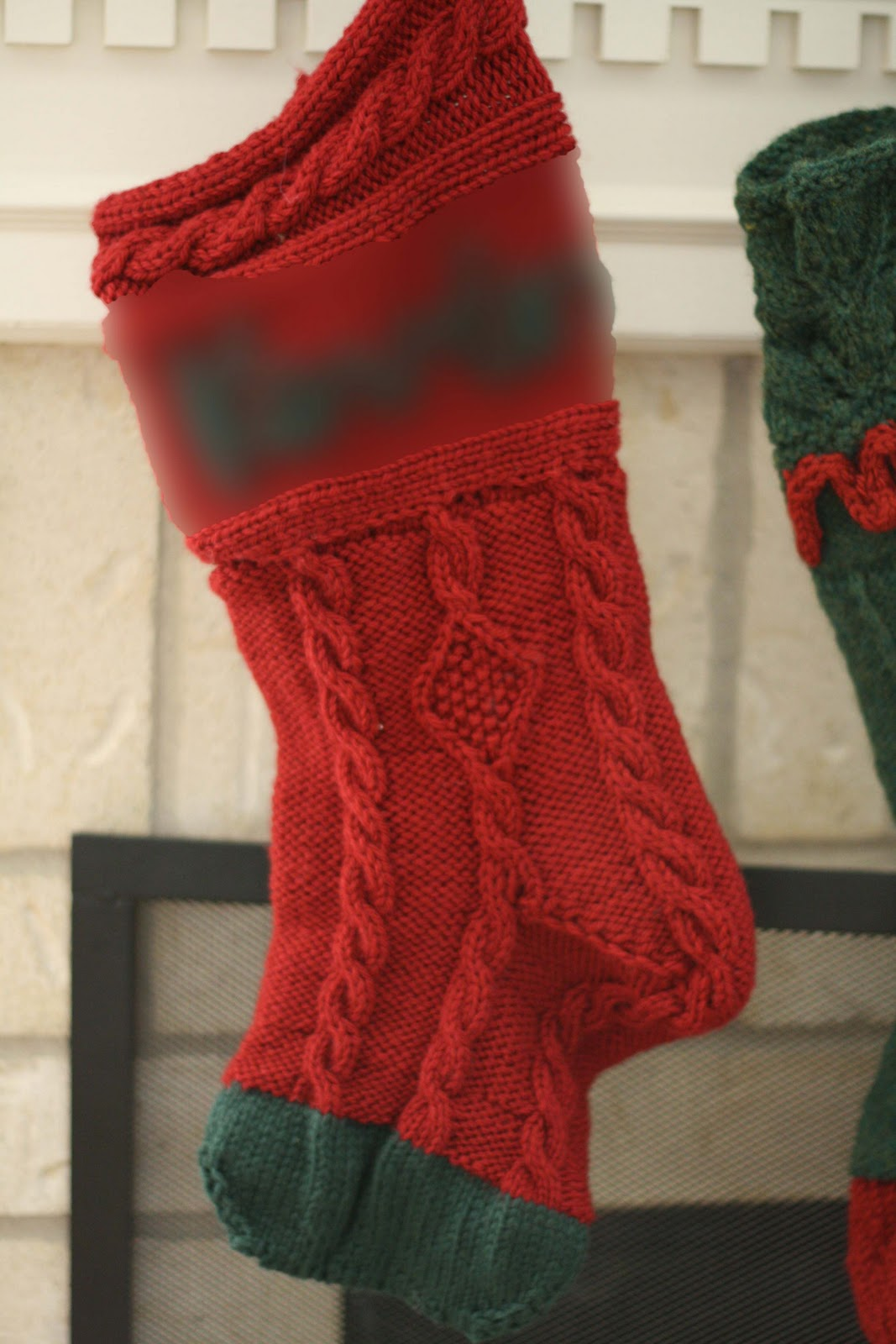 Cable knit christmas stocking pattern knitted christmas stockings