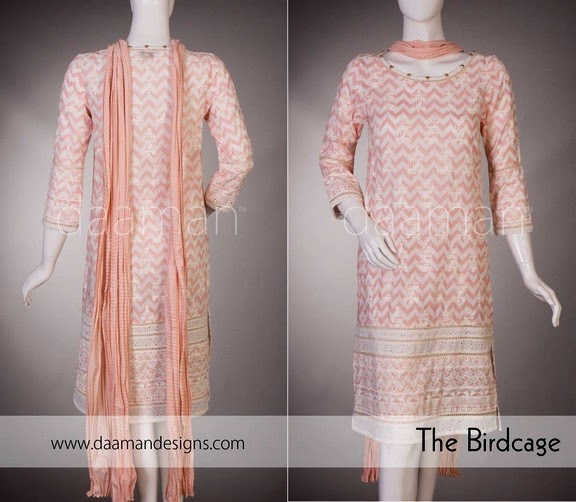 Daaman Eid Dress Collection 2014 For Girls
