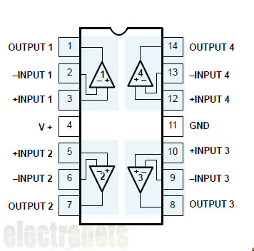 how to make ir sensor modules using comparator rh tentuts blogspot com lm324 circuit diagram lm324 pin configuration