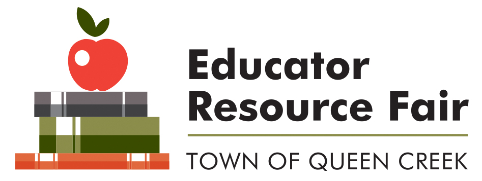 Educator Fair Resource logo featuring a stack of books with an apple on top.