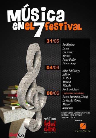 7mo Festival del Libro Arequipa 2013 - Conciertos (04, 08 junio)