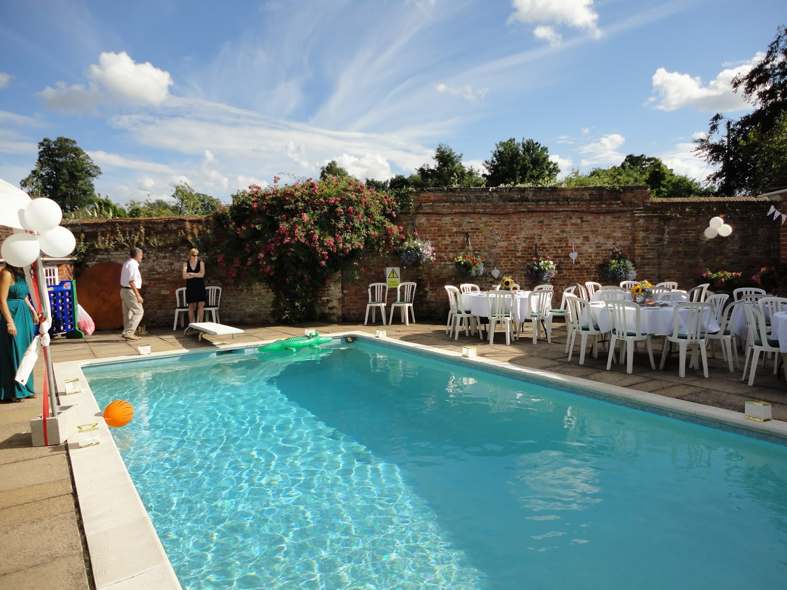 The Cotswold Food Year Pool Party Wedding Celebration In Coughton Worcestershire