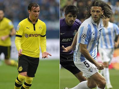 Borussia Dortmund vs Malaga vivo