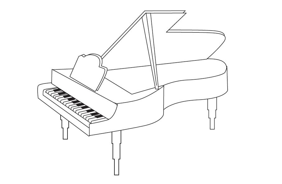 APRENDER LOS INSTRUMENTOS MUSICALES: VAMOS A COLOREAR UN PIANO | WEB ...