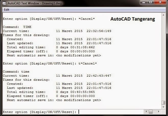 Cara Menghitung Waktu Sebuah Gambar AutoCAD Tercipta.